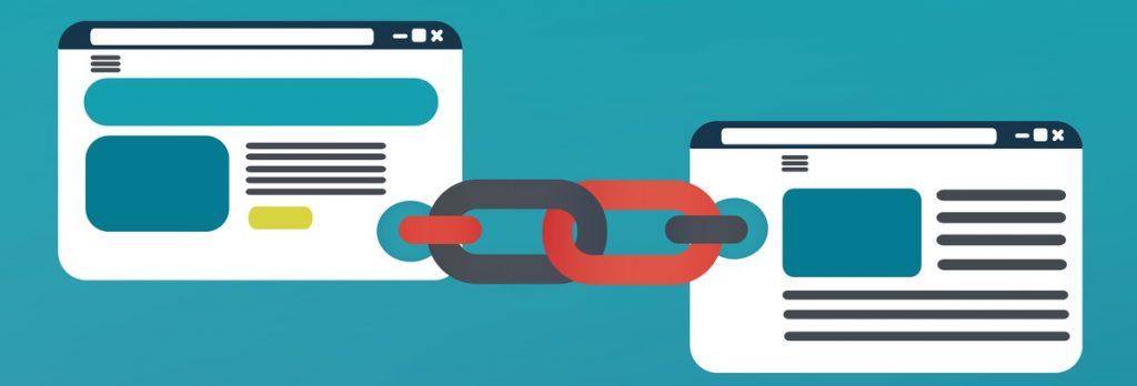 A link building concept image